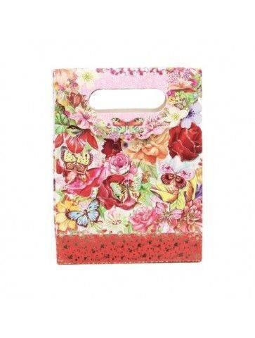 Punga imprimeu floral pentru cadouri caza